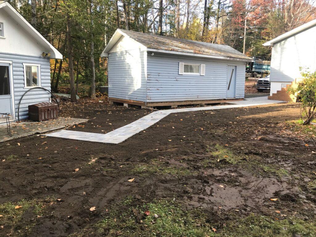 Excavation - trottoir